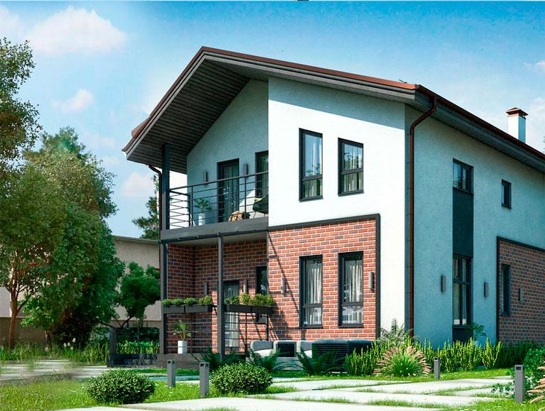 Один из домов, построенных по технологии БЭНАПАН.